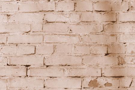 Vecchia struttura del muro di mattoni. Colore marrone del fondo del muro di mattoni tonico
