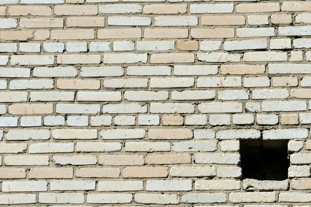 Old brick wall texture close up. Brick wall background