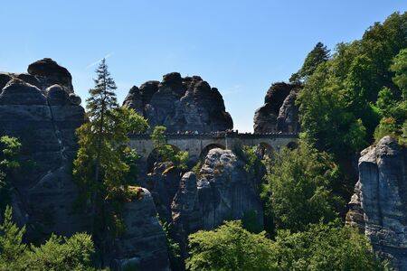 Saxon Switzerland (Bastei rocks) in summer. Germany, Europe