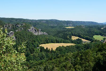 Saxon Switzerland (Bastei rocks) in summer. Germany, Europe