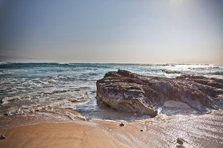この岩海海岸に高ダイナミック外観