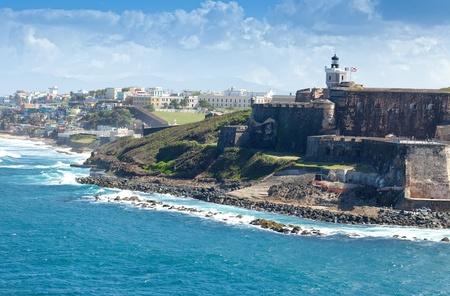 Coastline of San Juan, Puerto Rico Redactioneel