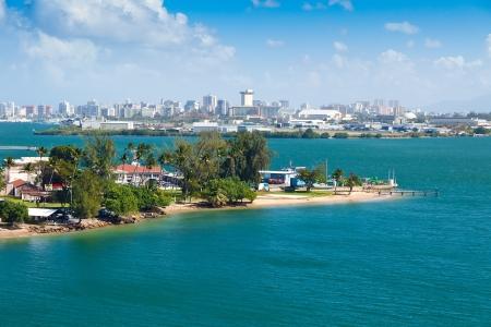 san juan: Landscape view of city of San Juan, Puerto Rico Stock Photo
