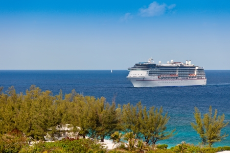 Cruise Ship entering harbor in Nassau, Bahamas  Stock Photo - 17482066
