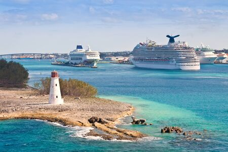 Cruise ships in port at the island of Nassau, Bahamas Stock Photo - 17482070