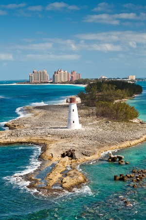Tropical and beautiful Paradise Island, in Nassau, Bahamas