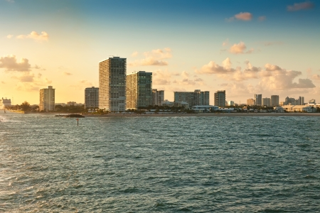 fort lauderdale: View of the coastline and beaches near sunset from  Fort Lauderdale, Florida Stock Photo