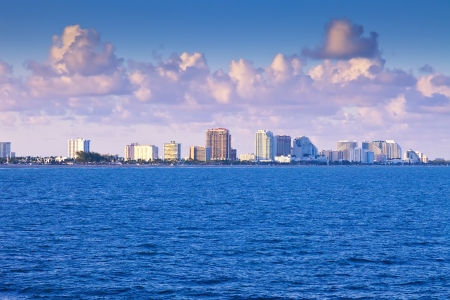 Skyline of city of Fort Lauderdale, Florida