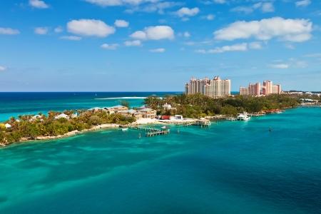 Lange strook van Paradise Island, gelegen in Nassau, Bahama's Stockfoto