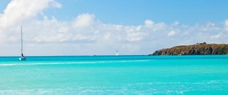 Sailing in Philispburg, St  Maarten, in the Eastern Caribbean Stock Photo
