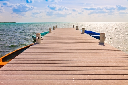 Boat dock in the Cayman Islands