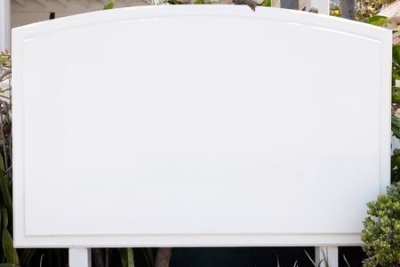Blank white sign, with room for text