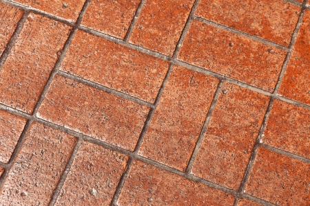 Background of natural brick pavers stone and cement