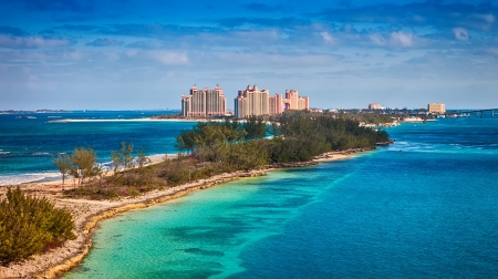 Scenic view of Paradise Island in Nassau, Bahamas photo