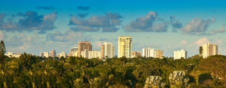 Panaramic view of city of Ft  Lauderdale, Florida