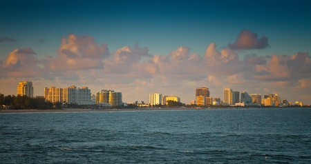 Coastline and beach of Ft  Lauderdale, Florida photo