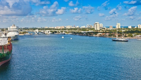 ft lauderdale: Port Everglades, cruise port and seaport, in Ft  Lauderdale, Florida Stock Photo