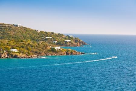 thomas: The tropical and beautiful island St  Thomas, USVI, in the Caribbean Sea