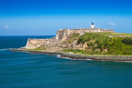 El Morro castle on the tip of San Juan, Puerto Rico 新聞圖片