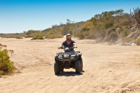 cabo: All Terrain Vehicle rider in Cabo San Lucas, Mexico