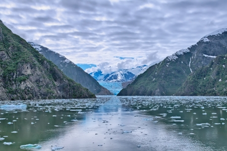 sawyer: Sawyer Glacier Stock Photo