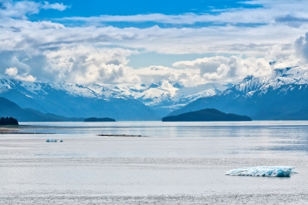 Entering Tracy Arm Fjord, on the Inside Passage, Alaska