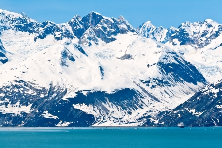 Cruiseschip dat in Glacier Bay National Park, Alaska
