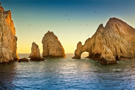 los cabos: Natural rock formation at Lands End, in Cabo  San Lucas, Mexico