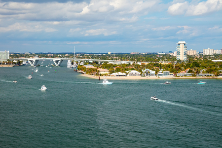The Intracoastal Waterway in Fort Lauderdale, Florida 免版税图像