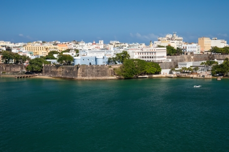 Scenic view of the city of old San Juan, Puerto Rico