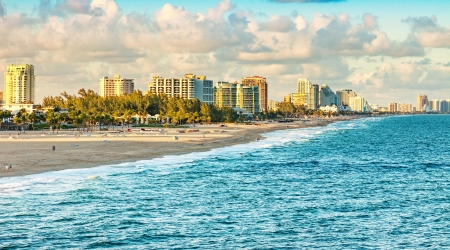 Scenic view of Ft. Lauderdale Beach, Florida photo