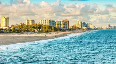 Vista panoramica del Ft. Lauderdale Beach, Florida Archivio Fotografico - 25253325