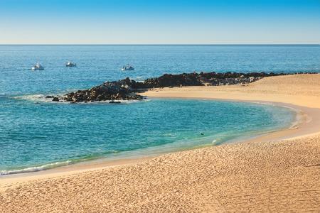 Sea of Cortez and beach on Cabo San Lucas, Mexico Stock Photo