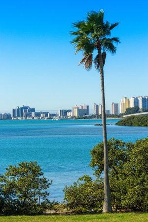 Scenic view of tropical and sunny Clearwater, Florida
