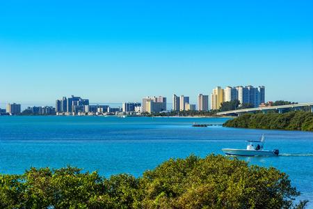 Vue panoramique de tropical et ensoleillé Clearwater, Floride Banque d'images - 26031086