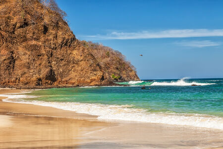 Scenic view of the beach along the Golfo de Papagayo in Guanacaste, Costa Rica