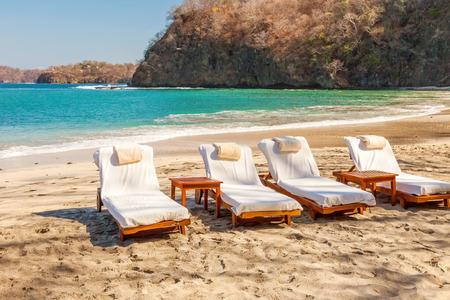 Vue panoramique de la plage le long du golfe de Papagayo à Guanacaste, au Costa Rica Banque d'images - 27295350