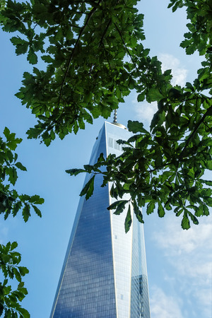 freedom tower: New York, NY - June 23, 2014:  Freedom Tower, located in lower Mantahattan, stands 1,776 feet tall on the site of the former World Trade Center. It serves as a beacon of freedom, and the resolve of the United States, and the people of New York City. Editorial