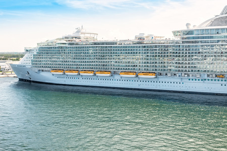 port everglades: Cruise ship anchored in Port Everglades, Fort Lauderdale, Florida Stock Photo