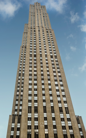 New York, NY - June 24, 2014: 30 Rockefeller Plaza, is located in the center of Midtown Manhattan, between Fifth Avenue and Sixth Avenue. It was declared a National Historic Landmark in 1987.