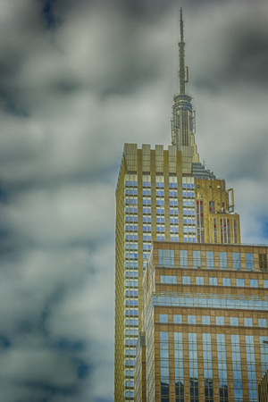 New York City building with an HDR effect applied