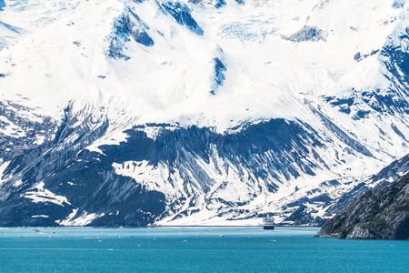 alaska: Cruise ship in the harbors of Glacier Bay National Park, Alaska Stock Photo