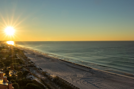 destin: Sunrise on Miramar Beach in Destin, Florida Stock Photo