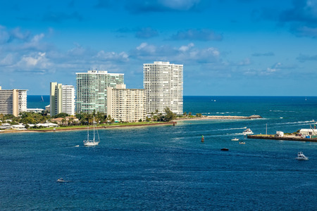port everglades: Intracoastal waterway and Port Everglades provide passageway for cruise ships and smaller vessels, in Fort Lauderdale, Florida.