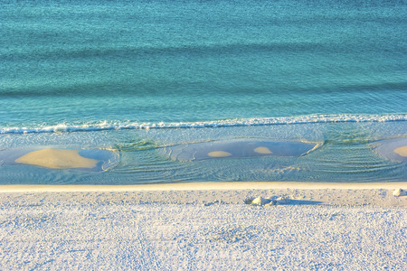 Stretch of Miramar Beach in Destin, Florida along the Gulf of Mexico