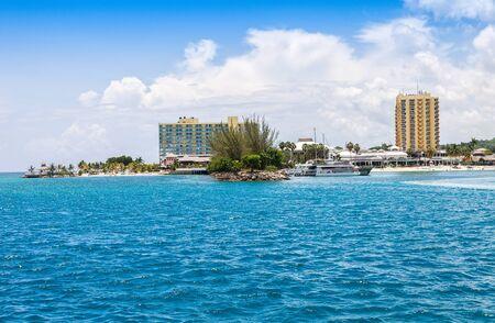 caribbean island: Popular Caribbean island of Jamaica, white beaches and luxury resorts. Stock Photo