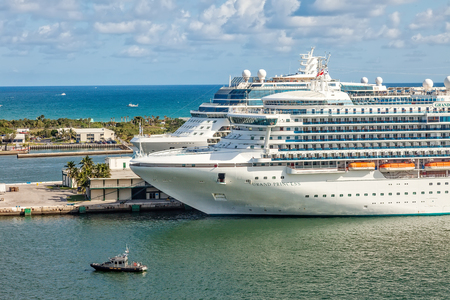 port everglades: Fort Lauderdale, FL - Jan. 12, 2013:  Cruise ships achored in Port Everglades, one of the biggest cruise ship ports in the United States. Editorial