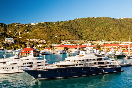 thomas: Caribbean island of St. Thomas and one of many yacht marina