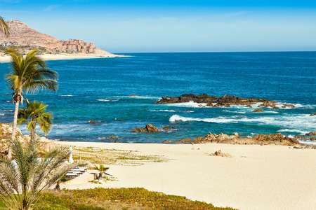 Beautiful beach in Cabo San Lucas, Mexico overlooking the Sea of Cortez 版權商用圖片