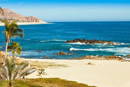 Beautiful beach in Cabo San Lucas, Mexico overlooking the Sea of Cortez Standard-Bild